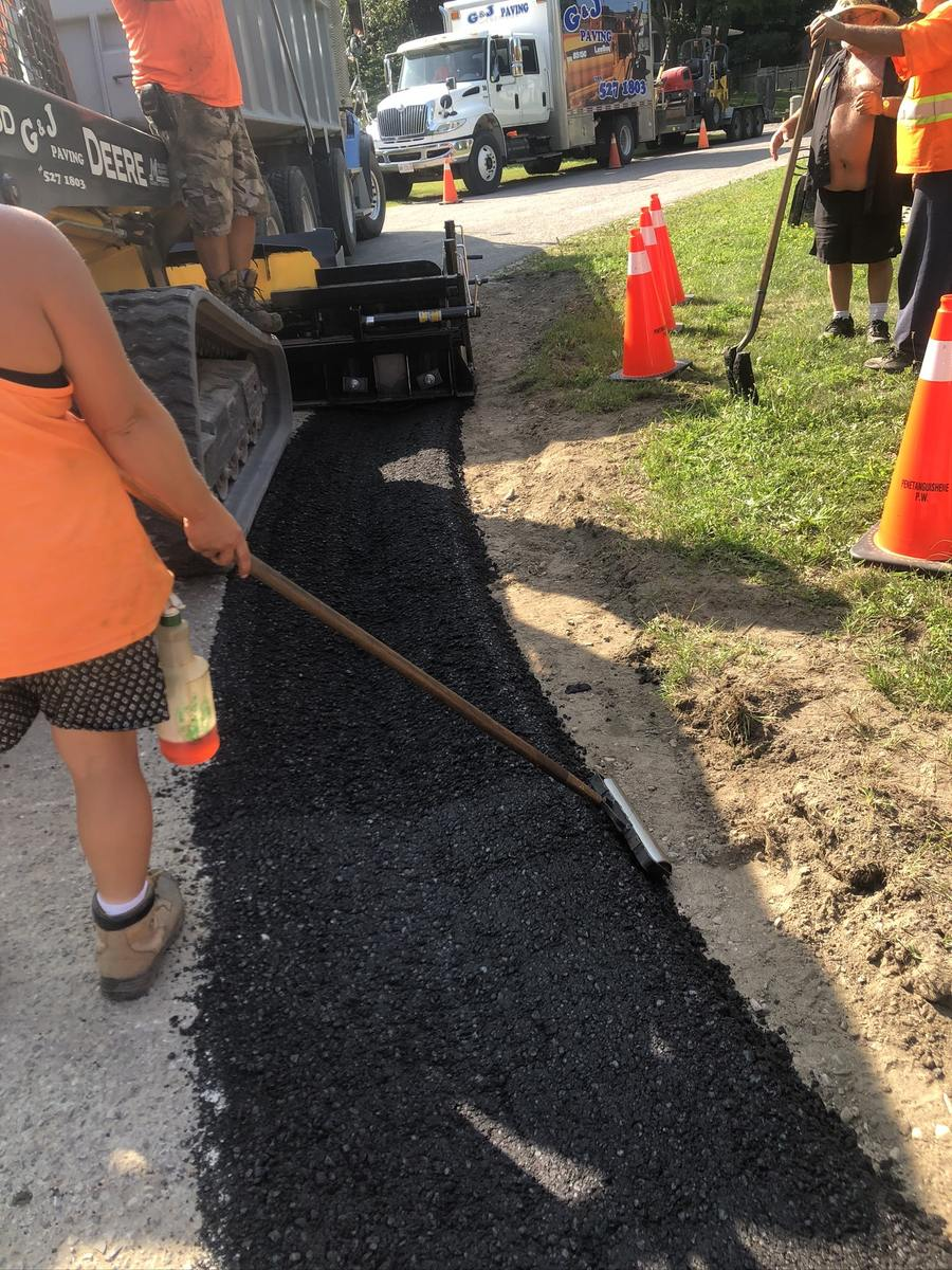 Commercial paving working